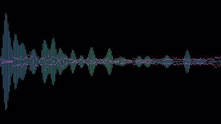 unbalanced : animation - computer generated equalizer bars in waveform audio spectrum Stock Footage