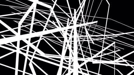 zvlněné : animation - Abstract motion graphics on black background with criss cross white lines