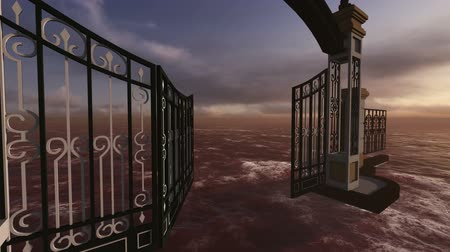 уменьшающийся : animation of gate to heaven made in 3d software