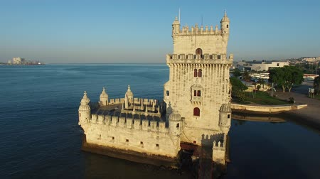 lisboa : Belem Tower at morning Lisbon aerial view