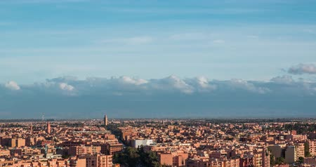 marrocos : Beautiful Marrakesh timelapse aerial panoramic view at evening, Morocco Vídeos