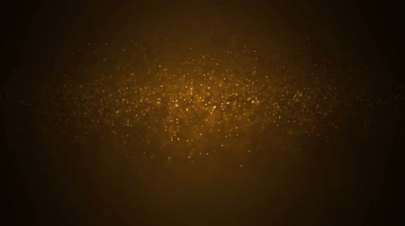 hearth : Gold Particles. Natural Floating Organic Particles On beatiful relaxing Background. Glittering Particles With Bokeh. Slow motion.