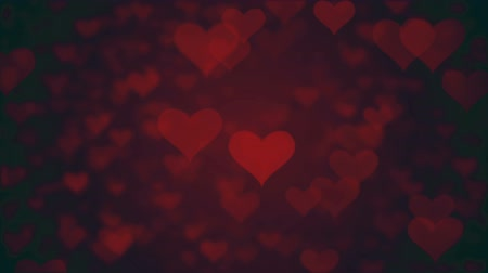 розы : valentines day loopable abstract background, flying hearts Стоковые видеозаписи