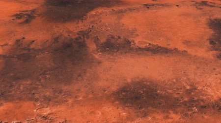 vulkán : The travel of the camera on the surface of the mars in high quality.On beatiful relaxing Background.Space