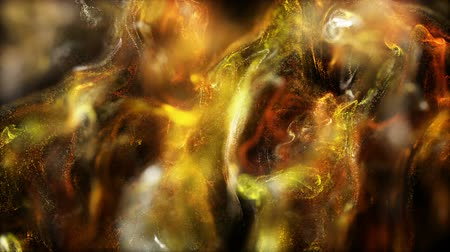 hearth : Background gold movement. Universe gold dust with stars on black background. Motion abstract of particles.