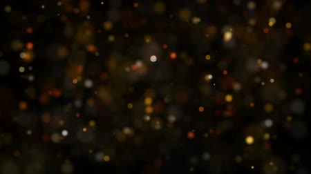 hearth : Dust Particles, random motion of particles.On beatiful relaxing Background. Glittering Particles With Bokeh in volumetric light Stock Footage
