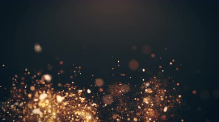 shimmer : Dust Particles, random motion of particles.On beatiful relaxing Background. Glittering Particles With Bokeh in volumetric light Stock Footage