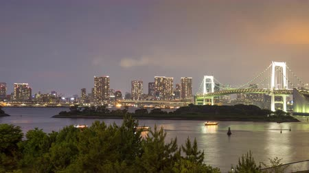 Tokyo bay time lapse with panning left to right