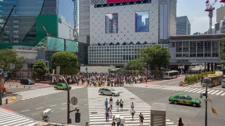 zoom in time lapse on Shibuya crossing in Tokyo, Japan