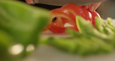 vitamina : Cooking: vegetables cutting close up on the white cutting board