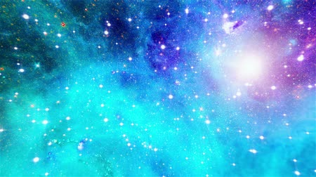 expanding : flight through the cosmic clouds of a nebula Stock Footage