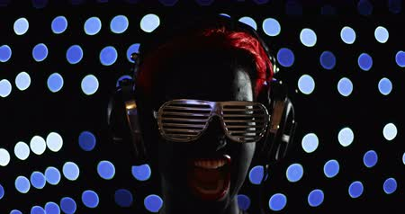 senhora : Red Head Woman Disco Funky Glasses