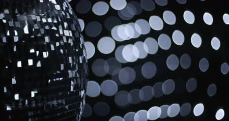 disko : Mirror Ball Disco Event Luxury Stok Video