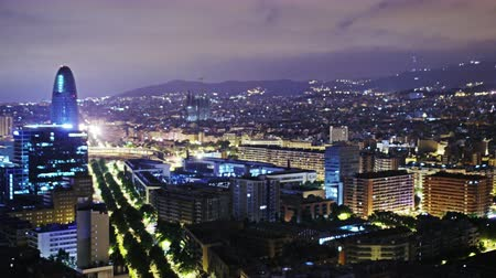 night : Barcelona Timelapse NIght Stock Footage