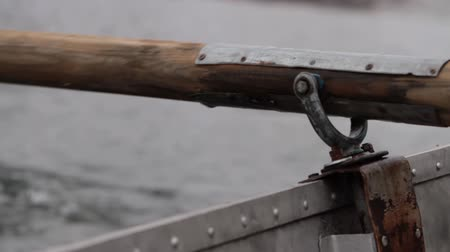 rowboat : close-up of the paddle Stock Footage