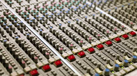 mikser : Close-up of the Mixing console