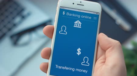 odeslat : Sending money on banking app on the smartphone