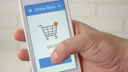 érintőképernyő : Paying for online shopping using smartphone application
