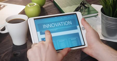 innovator : Browsing innovation web page using digital tablet