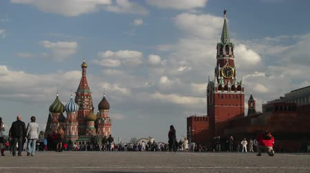kreml : Moscow, Russia, Red Square, Kremlin and St. Basil church.