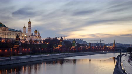 moscow night : Moscow Kremlin dawn sunrise in Moscow