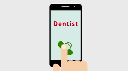 chatter : A phone call to the dentist Stock Footage