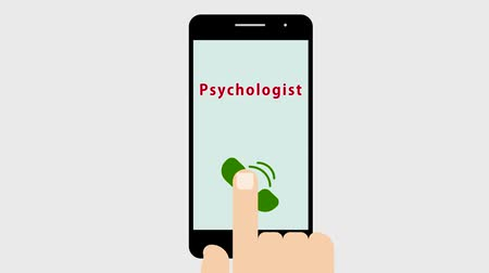 A telephone call to a psychologist