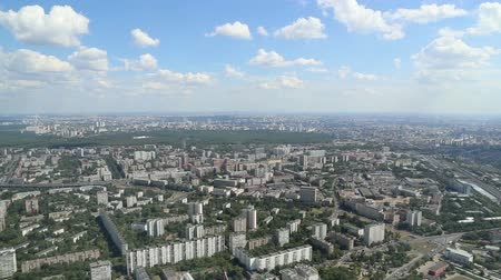 moscow panorama : Spectacular aerial view (340 m) of Moscow, Russia. View from Ostankino television tower