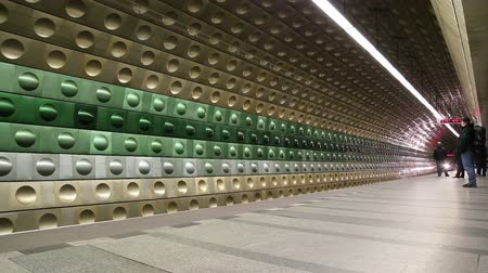 cseh : Metro Underground Station, Prague, Czech Republic