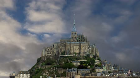 st malo : Mont Saint-Michel, Normandy, France--one of the most visited tourist sites in France. Designated as one of the first UNESCO World Heritage Sites in 1979, the site has variously been a stronghold, monastery, prison and historic monument since 1874
