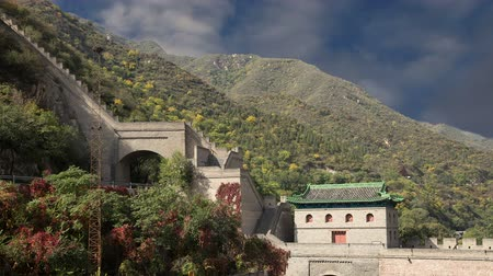 great wall of china : View of one of the most scenic sections of the Great Wall of China, north of Beijing