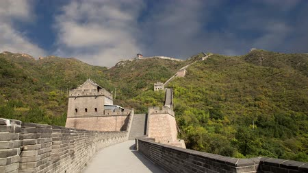 pared : Vista de uno de los tramos más pintorescos de la Gran Muralla de China, al norte de Beijing Archivo de Video