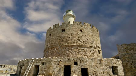 travell : Rhodes Tower of St. Nicholas, Greece  (time lapse)