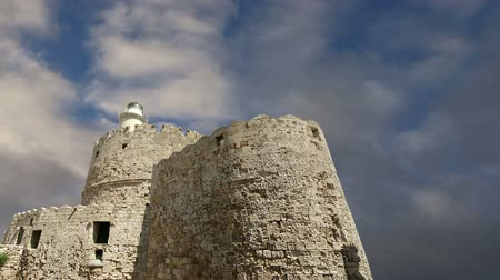 rhodes : Rhodes Tower of St. Nicholas, Greece  (time lapse)
