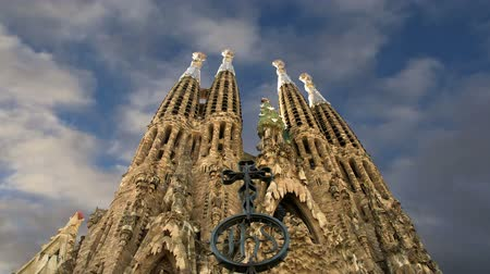 Каталония : Sagrada Familia by Antoni Gaudi in Barcelona, Spain