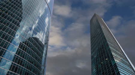 glass building : Skyscrapers of the International Business Center (City), Moscow, Russia