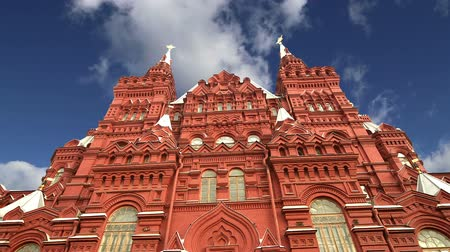 rusya : State Historical Museum. Moscow, Russia time lapse