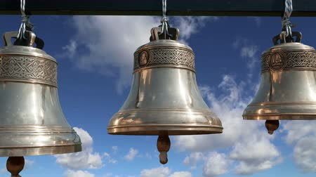 церковь : Orthodox bells. New Jerusalem in town Istra, surroundings of Moscow, Russia