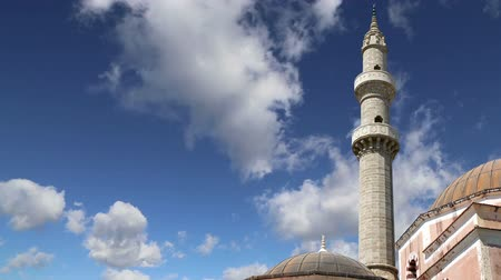 rhodes : Mosque in Old Town, Rhodes, Greece time lapse Stock Footage