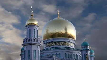 catedral : Moscow Cathedral Mosque, Russia - the main mosque in Moscow, new landmark Stock Footage