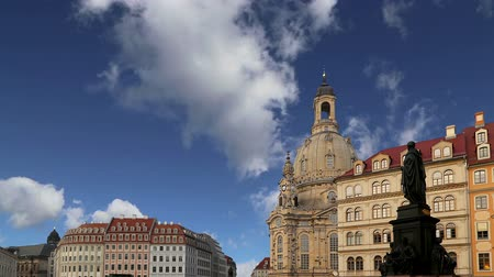 evangelical : The Dresden Frauenkirche (literally Church of Our Lady) is a Lutheran church in Dresden, Germany Stock Footage