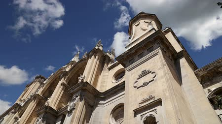 incarnation : Granada Cathedral (Cathedral of the Incarnation) in gothic and spanish renaissance style, Andalucia, Spain Stock Footage