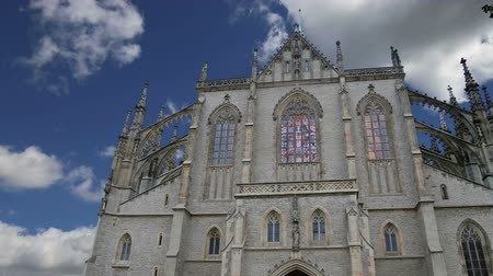 kutna : St. Barbara Church in Kutna Hora - one of the most famous Gothic churches in central Europe, Czech Republic Stock Footage