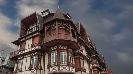 normandie : Stylized half-timbered house. Etretat, France. Etretat is a commune in the Seine-Maritime department in the Haute-Normandie region in northwestern France. Etretat is now a famous French seaside resor