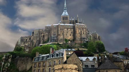 st malo : Mont Saint-Michel, Normandy, France - one of the most visited tourist sites in France.