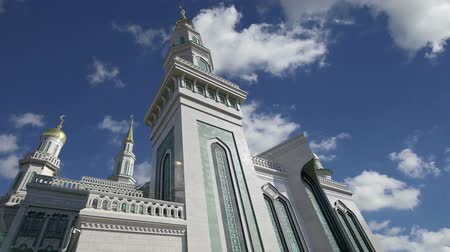 ислам : Moscow Cathedral Mosque, Russia - the main mosque in Moscow, new landmark Стоковые видеозаписи