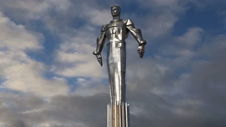 stella : Monument to Yuri Gagarin (42.5-meter high pedestal and statue), the first person to travel in space. It is located at Leninsky Prospekt in Moscow, Russia. The pedestal is designed to be reminiscent of a rocket exhaust