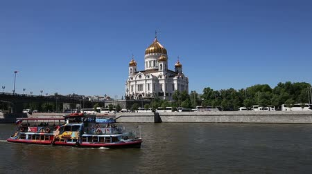 лодки : Christ the Savior Cathedral (day), Moscow, Russia