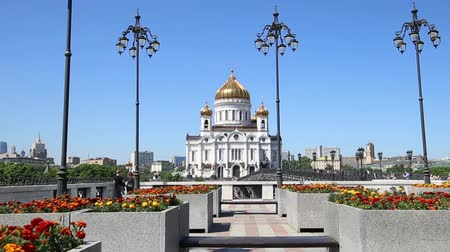 pleasure boats : Christ the Savior Cathedral (day), Moscow, Russia