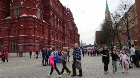 state capital : State Historical Museum. Red Square, Moscow, Russia Stock Footage